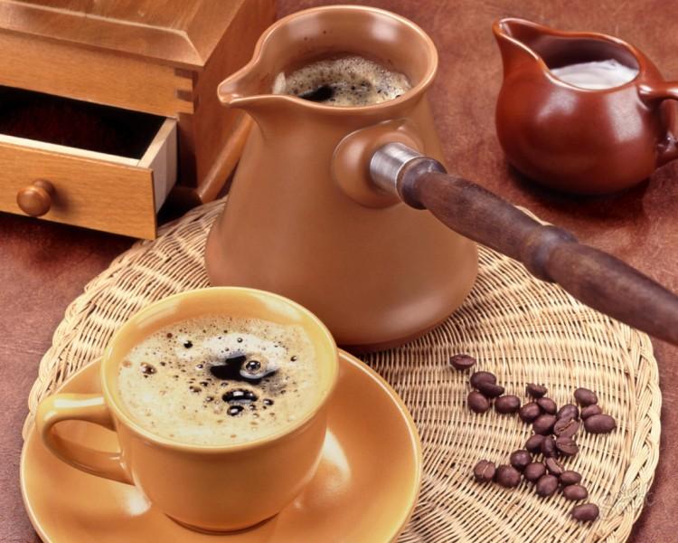 Варка кофе в турке
