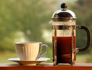 Френч-пресс с кофе