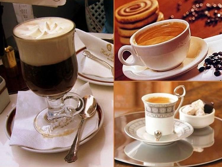 Варианты подачи кофе