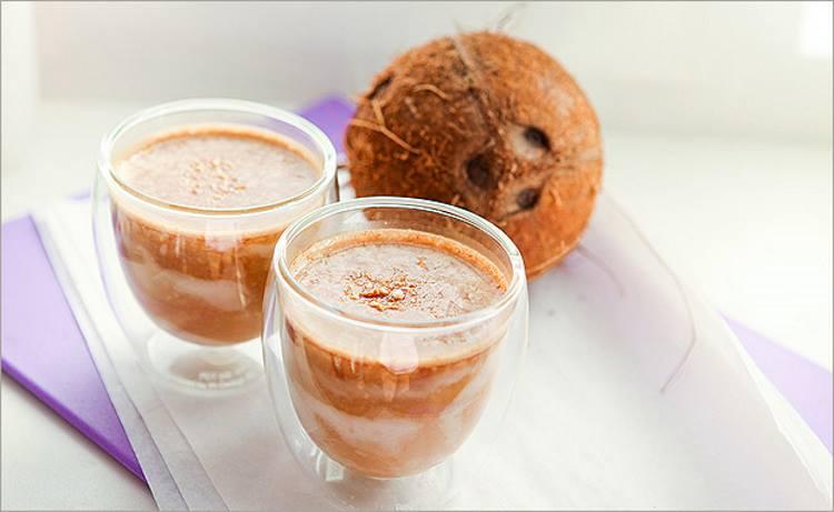 Кофе-шейк с кокосом