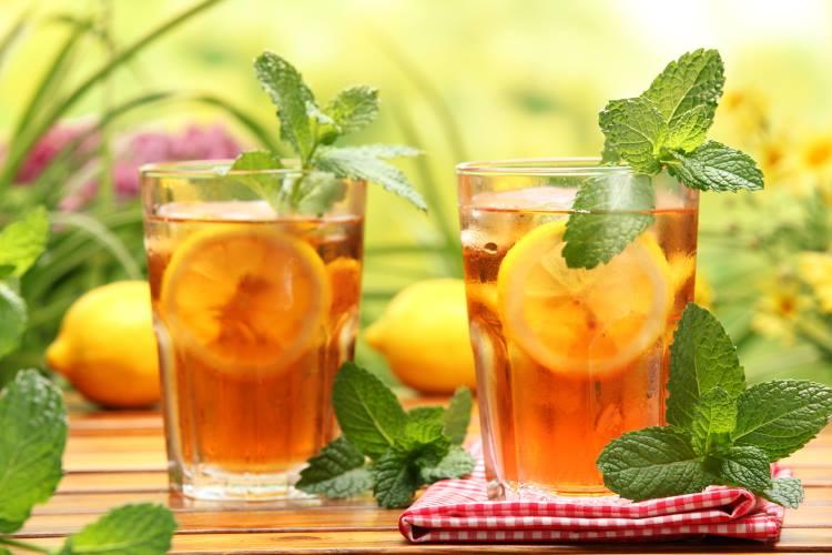 Чай со льдом и мятой