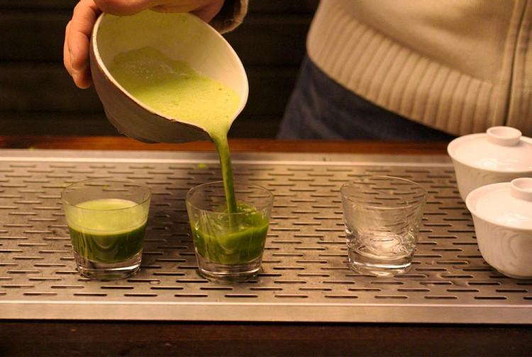 Густой японский чай