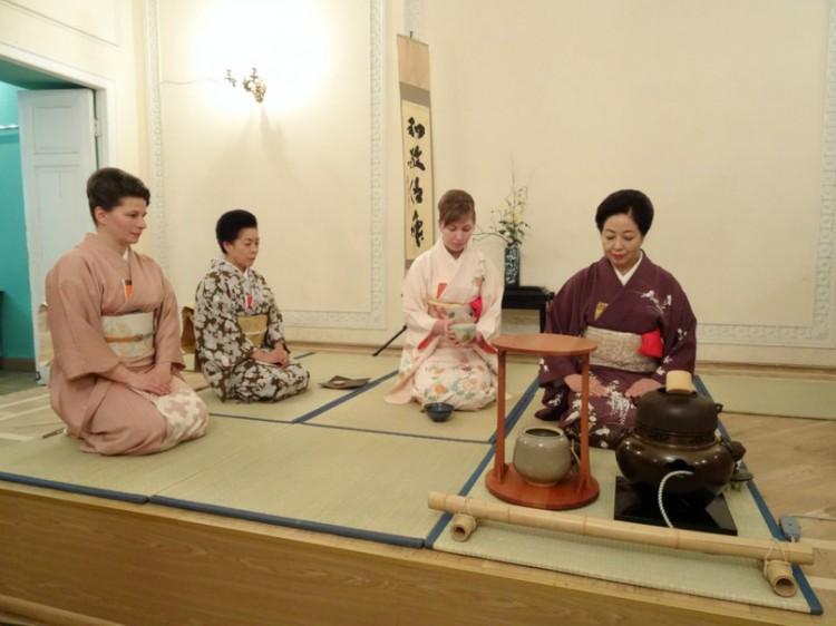 Чайная школа в Японии
