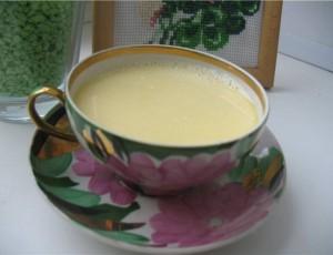 Чай со сметаной