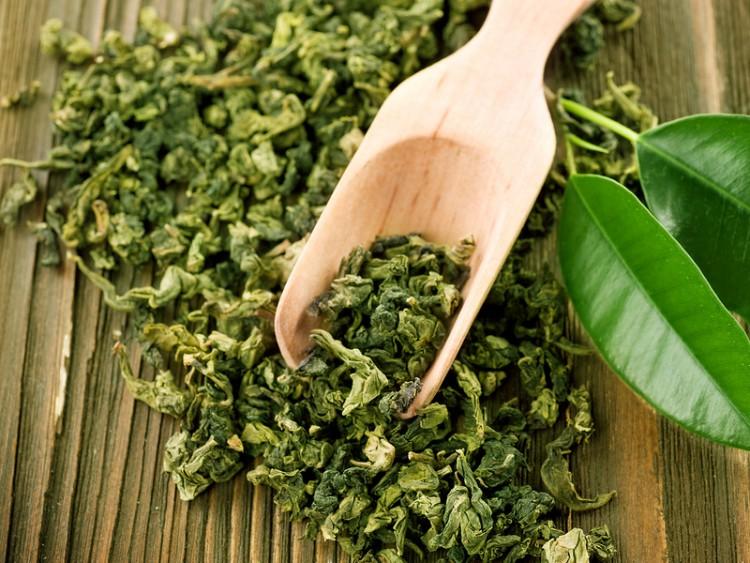 россыпь зеленого чая