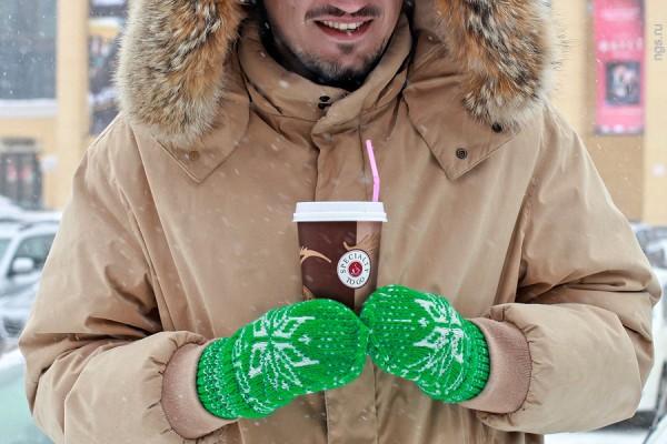 Кофе на вынос зимой