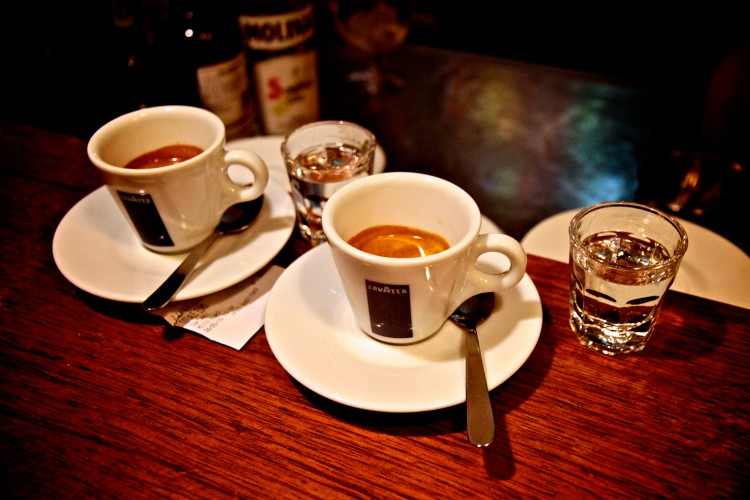 Кофе и спиртное