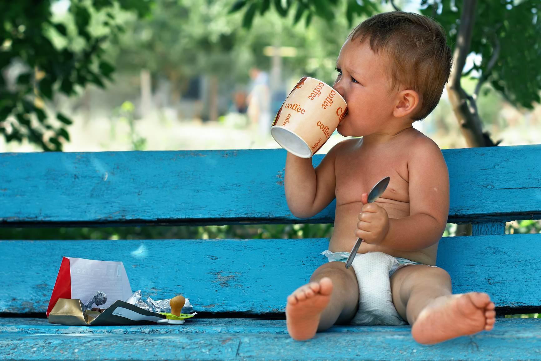 Ребенок выпил кофе
