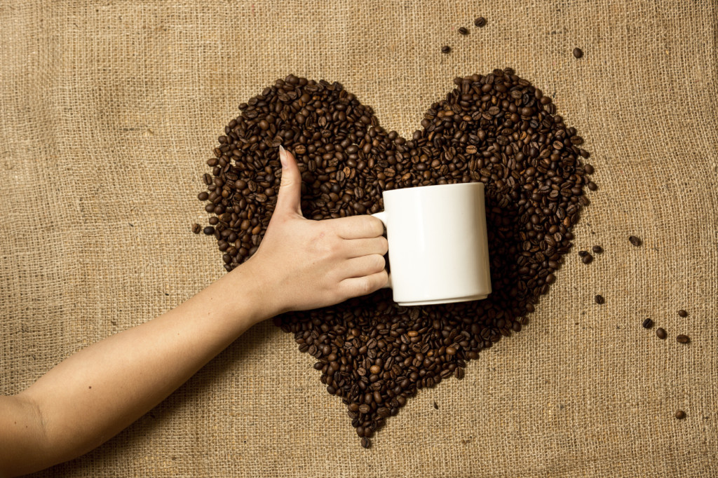 Сердечко из кофе