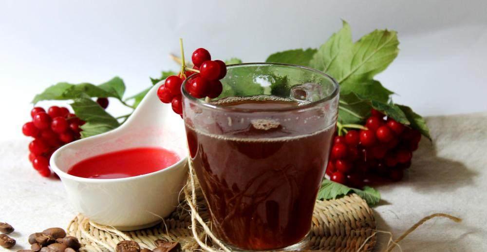 Чай с ягодами калины