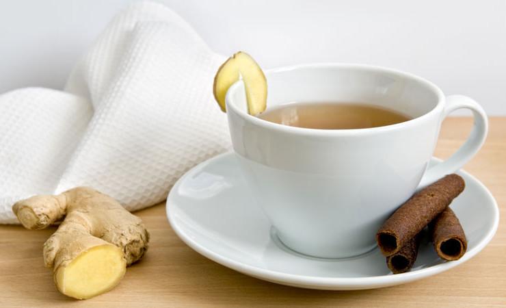 Чай с добавлением корицы и имбиря