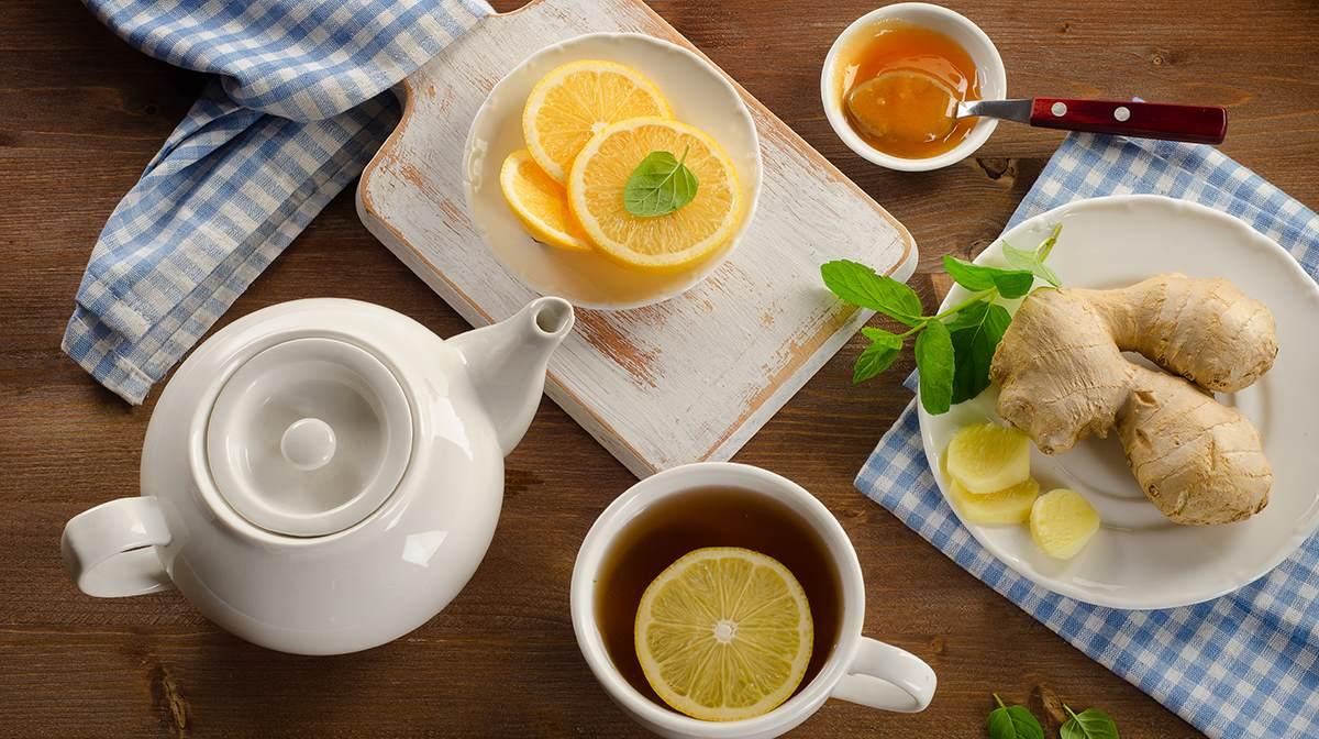 Чай с имбирем на завтрак