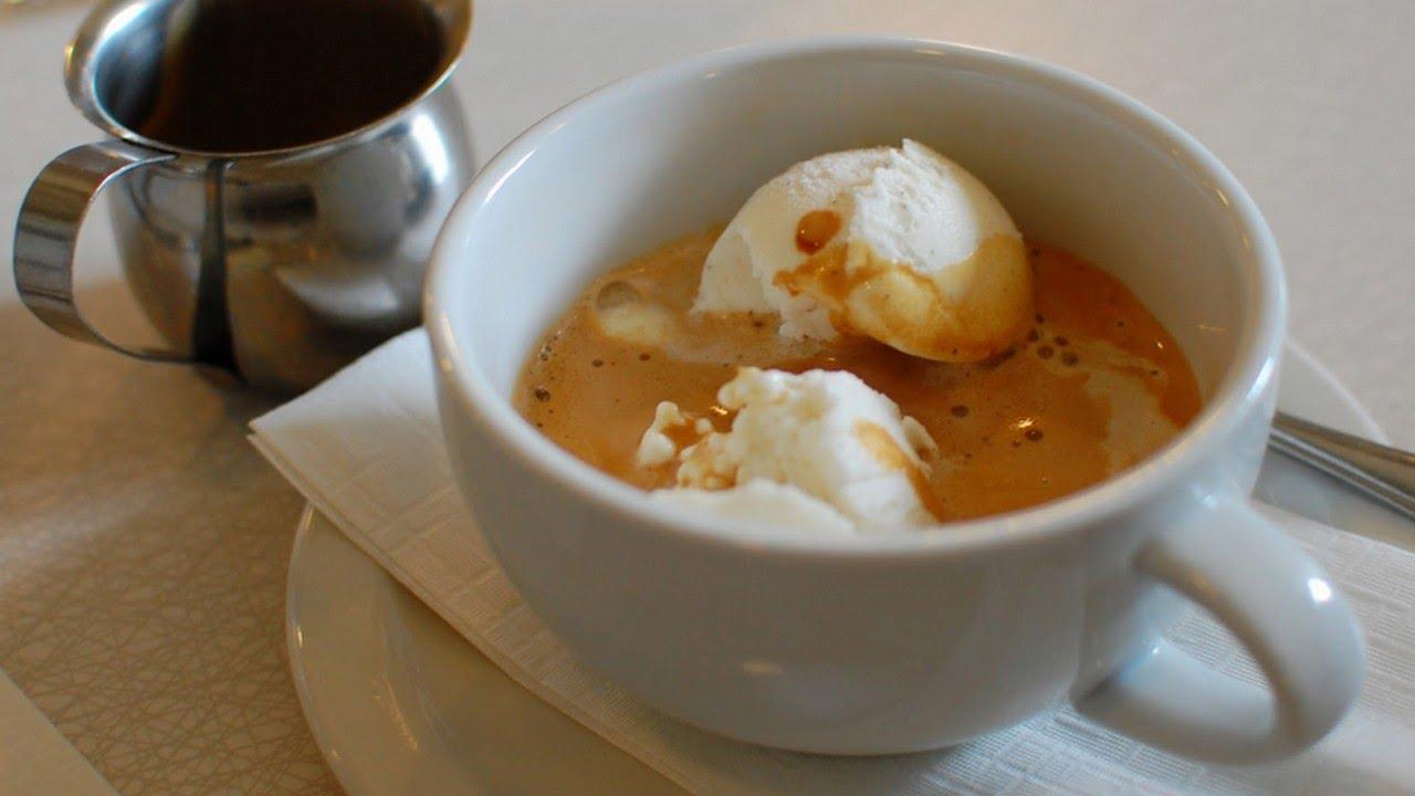 Кофе и мороженое