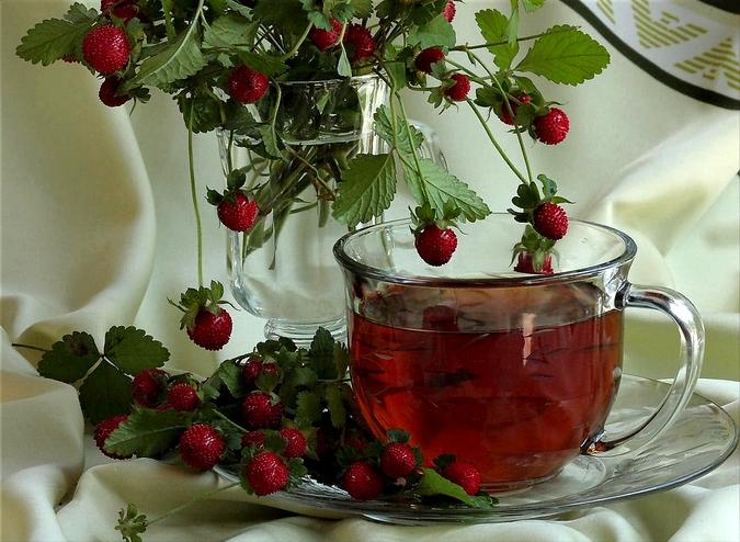 Чай из земляники
