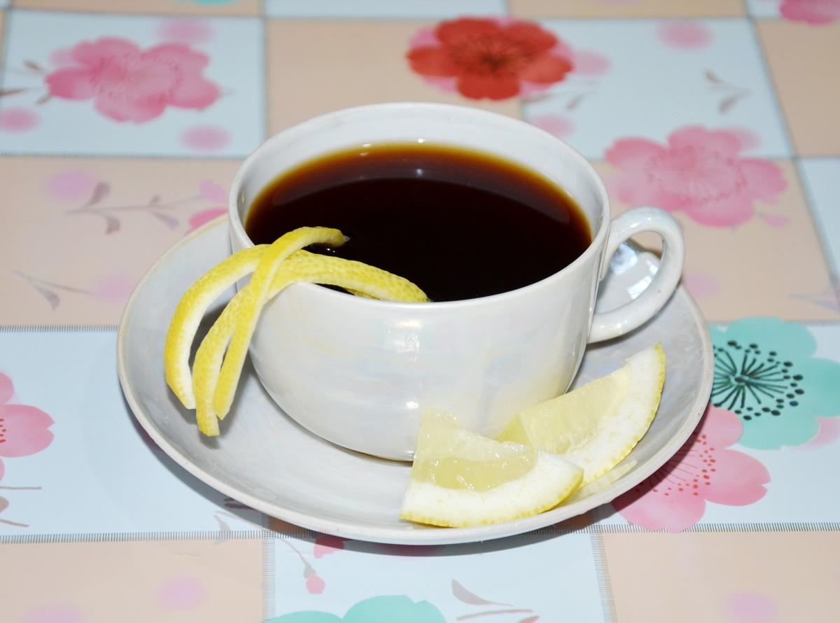 Кофе с цедрой лимона
