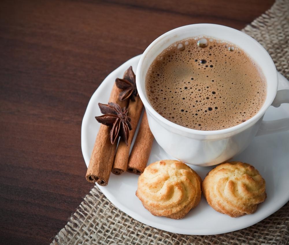 Кофе, какао и корица