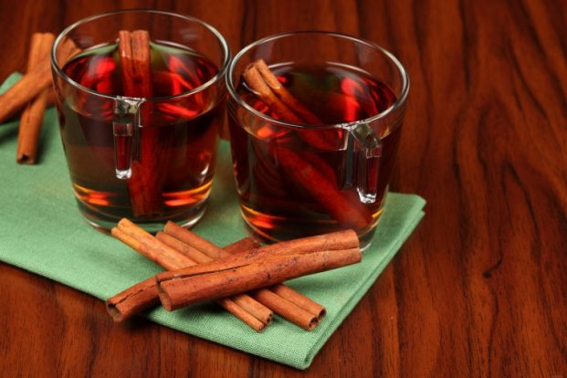Чай корицы с имбирем