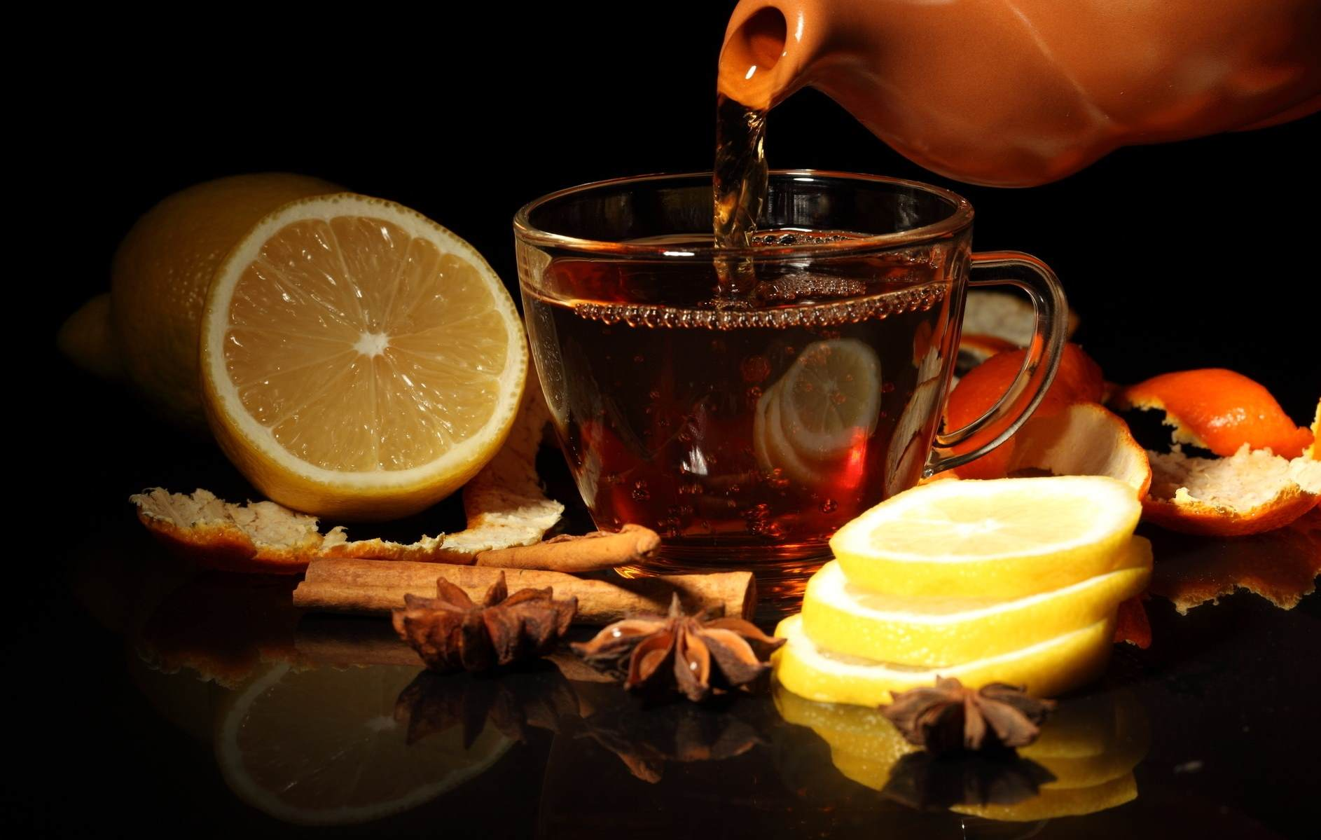 Лимонный пряный чай