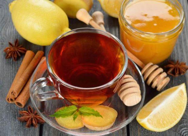 Чай из корицы меда имбиря и лимона