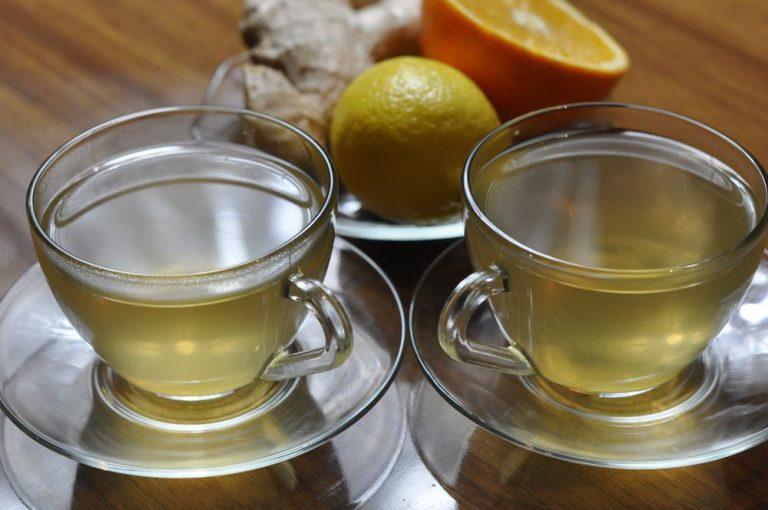 Имбирный чай с апельсином и мёдом