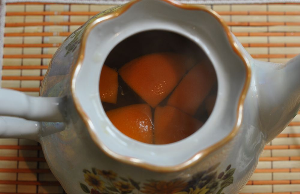 Апельсин в чайничке