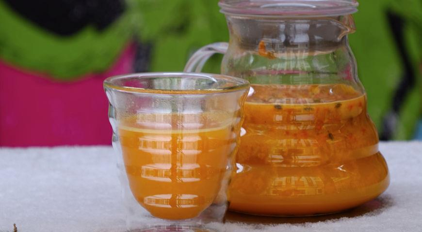 Чай с имбирем и облепихой
