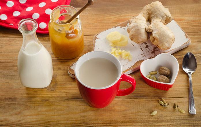 Молочный чай с имбирем